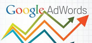 Google Adwords Logo with line graph and arrows