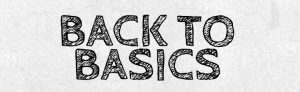 """back to basics"" chalk style text"